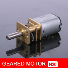 DC 12V 60RPM Mini Metal Gear Motor with Gearwheel Model:N20 10mm Shaft  Length
