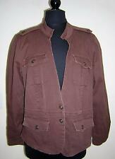 MIX IT CHOCOLATE BROWN STRETCH TWO BUTTON JACKET PLUS SIZE 3X EUC!