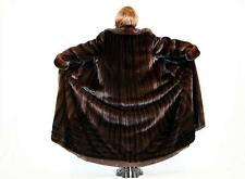 "Rare LKNW FERAUD Directional FEMALE mink fur coat jacket 85"" sweep"