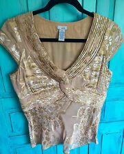 Anthropologie Odille Silk Blend Blouse Sz 10
