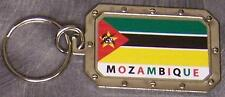Nickel metal key ring National Flag Mozambique NEW
