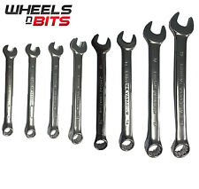 Wheels N Bits 8mm to 19mm Combination Spanner Set Polish Chrome Vanadium Wrench