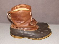 "LL BEAN 9"" Bean Boots Faux Shearling Lined Winter Snow Rain Men's Size 9 M"