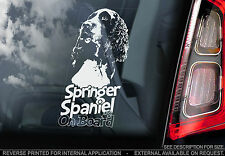 English Springer Spaniel - Car Window Sticker - Gun Dog on Board n.welsh - TYP2