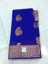 Royal Blue Color Fancy Silk Saree Full Heavy Full Jari Work Grand With Blouse