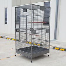 XXL Large Bird Flight Cage Parrot Macaw Aviary H80xW40xD40