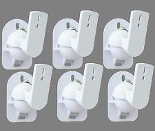 6 White Surround sound speaker wall brackets Universal
