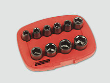 "Mannesmann 10 Piezas. impacto Socket Conjunto de 1/2"" <> 12,5 mm Drive Black Finish GS TUV"