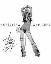 "Christina Aguilera 8""x 10"" Signed B&W PHOTO! REPRINT"
