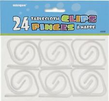 24 PLASTIC Tablecover Clip-Perfetto per barbecue, Fete, NOZZE e Divertimento Estate