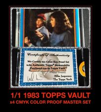 1:1 COA A-Team aTeam 4 Color CMYK 1983 Topps Card Trader PROOF SET 80's galoob