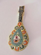 Vintage Micro Mosaic Pin Brooch Made in Italy Lute Guitar