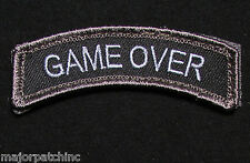 GAME OVER ROCKER TAB USA ARMY TACTICAL MILITARY MORALE BADGE SWAT VELCRO PATCH
