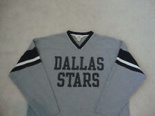 NHL Dallas Stars long sleeve Gray & Black Hockey T shirt XL