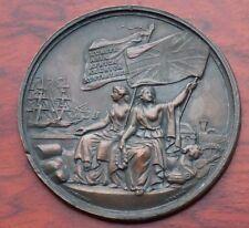 Medalla de bronce Uniface por pellizcos, 52mm, posiblemente para una exposición o premio