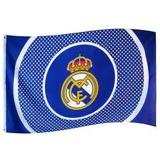 REAL MADRID FC TEAM CLUB BULLSEYE FOOTBALL FLAG - LICENSED PRODUCT