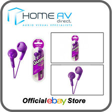 JVC HA-F160 Gumy In-Ear Headphones iPod/iPhone Compatible in Grape Violet