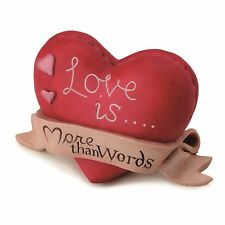 More Than Words 9556 Love is More Than Words Heart Figurine