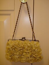 BN HARRODS LADIES IVORY DECORATED HANDBAG WITH DETAIL