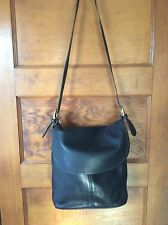 Vintage Coach Classic Black Leather Whitney Cross-body Bag 4115 USA