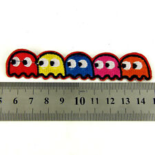 Pacman 1980's Kids  Iron sew on Patch clothes dressmaking applique