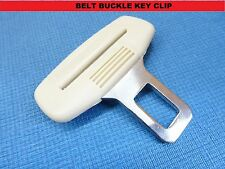 RENAULT CAPTUR/SCENIC CREAM SEAT BELT ALARM BUCKLE KEY CLIP SAFETY CLASP STOP