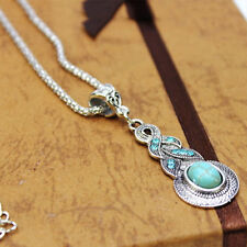 Vintage Style Turquoise Pendant Waterdrop Clavicle Necklace Party Prom Gifts