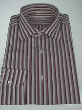 NWT ISAIA Napoli Slim Fit Dress Shirt 17 (43) Made in Italy of Superfine Cotton