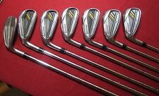 TaylorMade Men's Rocketbladez Iron Set, Left Hand, Steel, Stiff, 4-PW Golf Set