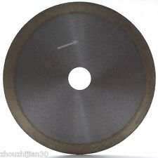 """7"""" inch Sintered Diamond Blade Saw Wet Cutting Glass Continuous Rim Arbor 5/8"""""""