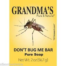 3pk Grandma's Don't Bug Me Bar Soap Natural Mosquito Repellent Help Prevent Zika