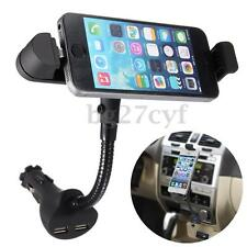 For iPhone 6S/6/Plus SE 5S 5 Car Cigarette Lighter Holder Dual USB Charger Mount