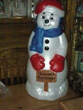 EXTRA LARGE SNOW MAN, OUTDOOR LIGHTED BLOW PLASTIC OUTDOOR ORNAMENT FAST SHIP!!!