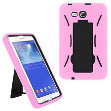 Light Pink 2in1 Hybrid Case Skin Cover For Samsung Galaxy Tab E Lite 7.0 / 3 7""