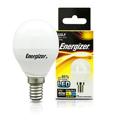 10 x Energizer 5.9 Watt LED SES E14 Golf Ball Shape Energy Saving Light Bulb 40w