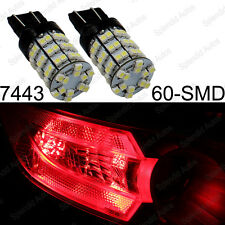 2 Brilliant Red 60-SMD 7440 7443 LED For Turn Signal, Brake, and Backup Lights