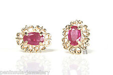 9ct Gold Ruby Stud Earrings Made in UK Gift Boxed