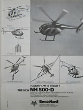 8/1977 PUB BREDA NARDI MILANO NH-500-D HELICOPTER FLOATS AG FIRE CARGO RESCUE AD