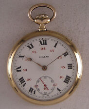 Vintage Hi Grade DOLLAR '1900 Gold Plated Swiss Pocket Watch Perfect Serviced