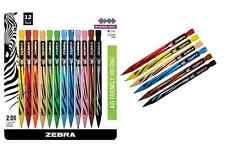 12pc MECHANICAL Colored Pencils Set ZEBRA 2.0mm Lead
