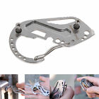 1pc EDC Stainless Multi Tools Keychain Wrench Quickdraw Carabiner Clip Snap Hook