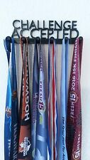 CHALLENGE ACCEPTED MEDAL DISPLAY HOLDER HANGER MEDAL RACK 5K 10K HALF MARATHON