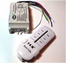 4-Way On/Off interruptor de pared de luz 220V-240V Wireless Digital Con Control Remoto Reino Unido
