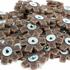 "50pc 1-1/2"" Surface Conditioning Star Abrasive Disc -Brown Coarse Grade"