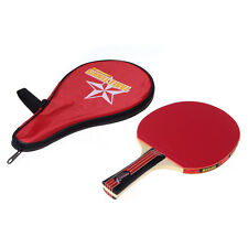Table Tennis Racket Long Handle Ping Pong Paddle + Red Waterproof Carring Bag