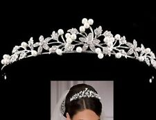 1XSliver Metal Tiara Wedding Hair Bands Headbands of Girls Accessories AC4