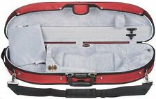 Bobelock Half Moon Puffy 1047P 4/4 Violin Case with Red Exterior and Grey Interi