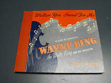 WALTZS YOU SAVED FOR ME WAYNE KING ORCHESTRA 4 RECORD 78 SET ALBUM RCA VICTOR