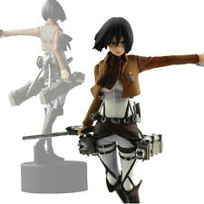 Anime Shingeki No Kyojin Attack On Titan Mikasa Ackerman Figure Figurine Doll CA
