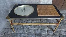Vintage Table basse simili cuir boussole Rose des vents coffee table compass